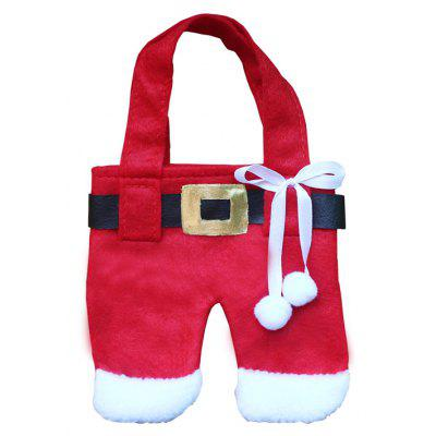 Christmas Pants Decoration Knife Fork Bag