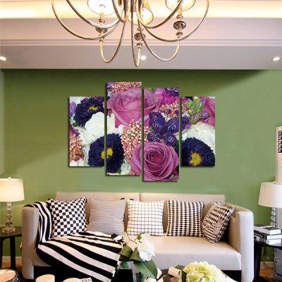 4PCS Rose Chrysanthemum Printing Canvas Wall Decoration PrintPrints<br>4PCS Rose Chrysanthemum Printing Canvas Wall Decoration Print<br><br>Craft: Print<br>Form: Four Panels<br>Material: Canvas<br>Package Contents: 4 x Print<br>Package size (L x W x H): 42.00 x 6.00 x 6.00 cm / 16.54 x 2.36 x 2.36 inches<br>Package weight: 0.3800 kg<br>Painting: Without Inner Frame<br>Product weight: 0.3400 kg<br>Shape: Horizontal Panoramic<br>Style: Modern/Contemporary<br>Subjects: Flower<br>Suitable Space: Bedroom,Dining Room,Hotel,Living Room,Office