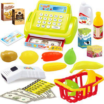 Cash Register Supermarket Checkout Doll House Pretend Play Toy