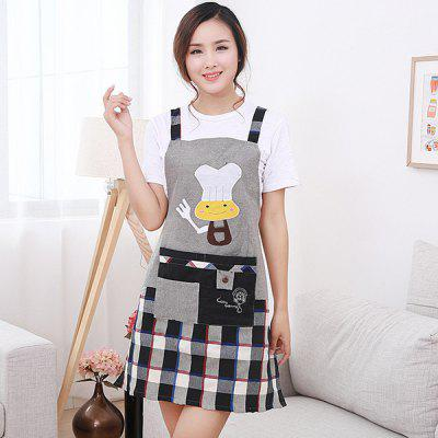 Cartoon Chef Bear Waterproof Antifouling Durable Comfortable Apron with Strip