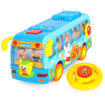 Mini Plastic School Bus Toy for Kids