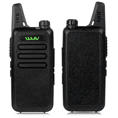 WLN 2PCS Mini Handheld Walkie Talkie Radio Communicator  -  EU  BLACK