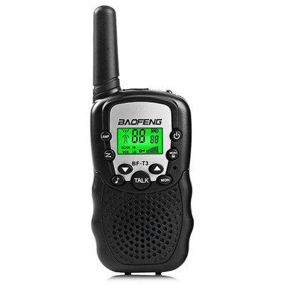 BAOFENG BF - T3 Wireless Walkie Talkie ( EU Version ) 2PCS - BLACK