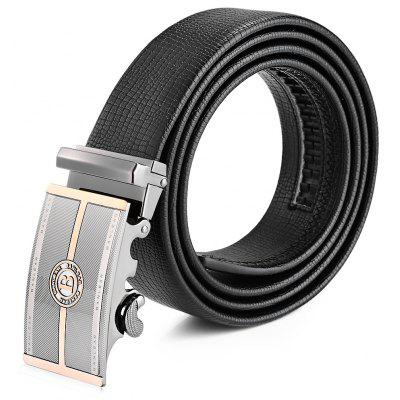 Automatic Buckle Genuine Leather Trouser Belt for Men