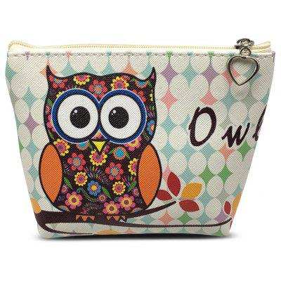 Girl / Women PU Coin Purse Wallet with Cute Owl Pattern
