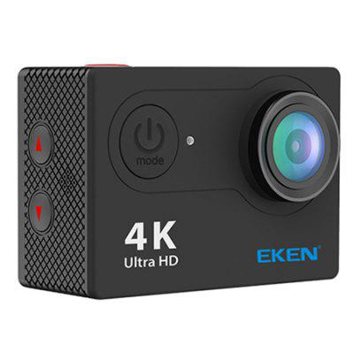 Original EKEN H9R 4K Action Camera Ultra HDAction Cameras<br>Original EKEN H9R 4K Action Camera Ultra HD<br><br>Application: Bike, Underwater, Ski, Motorcycle, Extreme Sports<br>Audio System: Built-in microphone/speaker (AAC)<br>Battery Capacity (mAh): 1050mAh<br>Battery Type: Built-in<br>Brand Name: EKEN<br>Charge way: USB charge by PC<br>Charging Time: 2h<br>Chipset Name: Sunplus<br>Features: Mini, Wireless, Cool<br>Image Format: JPEG<br>Language: Czech,Dutch,English,French,German,Italian,Japanese,Korean,Polish,Portuguese,Russian,Spanish,Thai,Traditional Chinese,Turkish<br>Lens Diameter: 17.4mm<br>Max External Card Supported: TF 32G (not included)<br>Model: H9R<br>Night vision: No<br>Package Contents: 1 x EKEN H9R Sport Action Camera, 1 x Frame, 5 x Mount, 1 x Handle Bar, 2 x Helmet Mount, 1 x Protective Backdoor, 1 x  Waterproof Case, 3 x Tether, 1 x Metal Tether, 1 x USB Cable, 1 x 2.4G Remote, 1<br>Package size (L x W x H): 25.00 x 13.00 x 9.00 cm / 9.84 x 5.12 x 3.54 inches<br>Package weight: 0.5500 kg<br>Product size (L x W x H): 5.93 x 2.46 x 4.11 cm / 2.33 x 0.97 x 1.62 inches<br>Product weight: 0.0640 kg<br>Remote Control: Yes<br>Screen resolution: 320x240<br>Screen size: 2.0inch<br>Standby time: 3h<br>Time lapse: Yes<br>Type: Sports Camera<br>Type of Camera: 4K<br>Video format: MOV<br>Video Frame Rate: 120fps,25fps,30FPS,60FPS<br>Video Resolution: 1080P(30fps),1080P(60fps),2.7K (30fps),4K (25fps),720P (120fps)<br>Water Resistant: 30m ( with a waterproof case )<br>Waterproof: Yes<br>Waterproof Rating: IP68 ( with a waterproof case )<br>Wide Angle: 170 degree wide angle<br>WIFI: Yes<br>WiFi Distance: 15m<br>WiFi Function: Remote Control<br>Working Time: 1080p / 30fps 1.5 hours, 4K 25fps / 1080fps 60 / 50 mins
