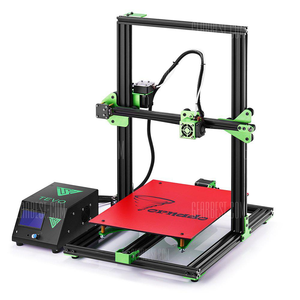 ChinaBestPrices - TEVO Tornado Most Assembled Full-aluminum Frame 3D Printer