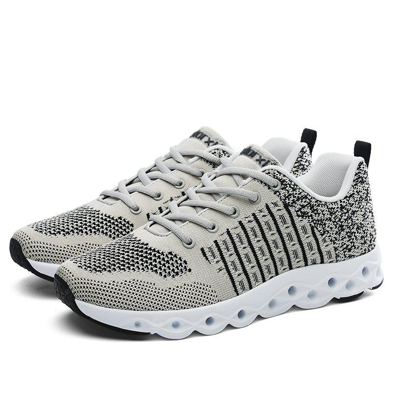 GRAY Breathable Athletic Shoes with MD Soles for Men