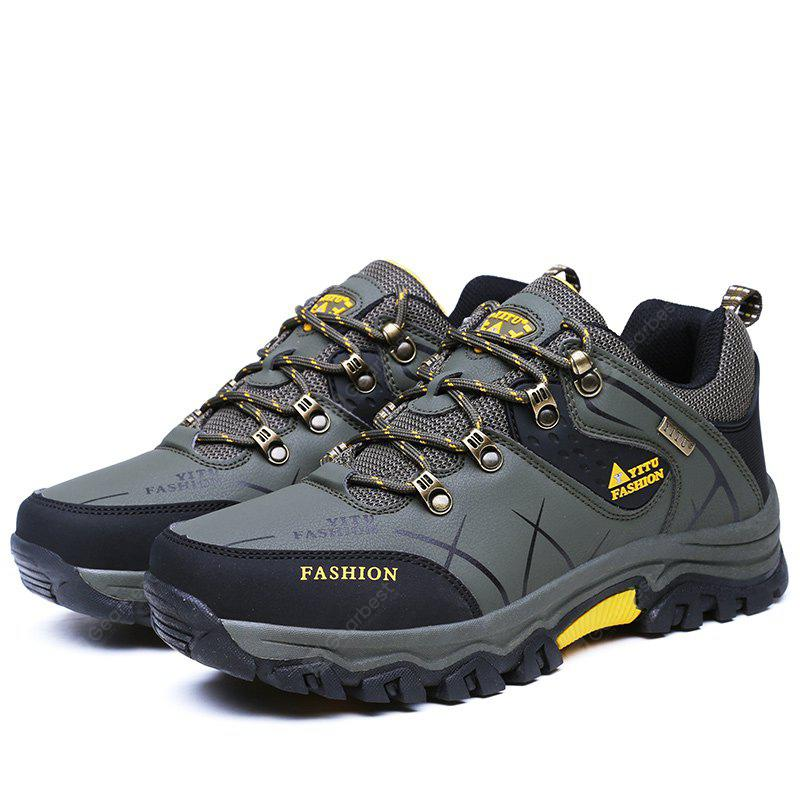 Plus Size Low Top Lace-up Hiking Shoes for Men