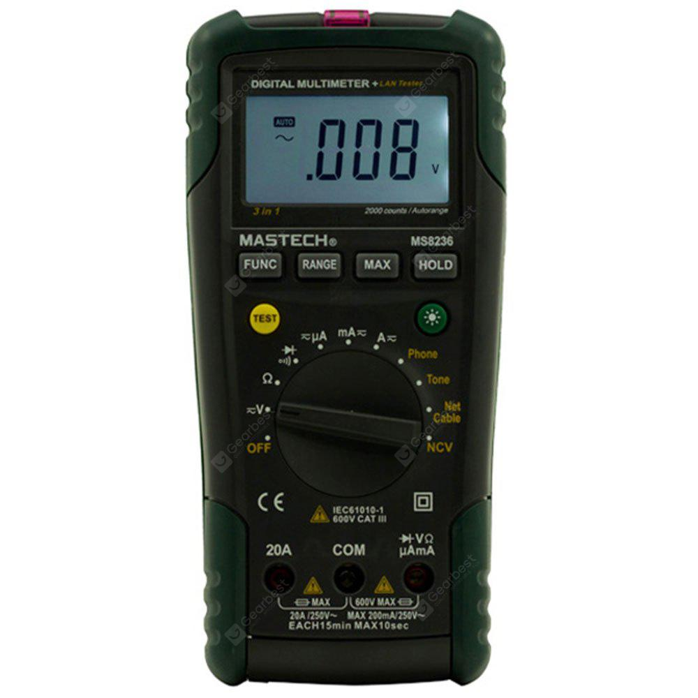 Mastech Ms8236 Digital Network Multimeter Ncv Dmm Non Contact Wholesale Multifunctional Circuit Tester Voltage Detector Pen 4939 Free Shipping