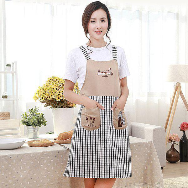 Embroidery Durable Antifouling Apron | Gearbest