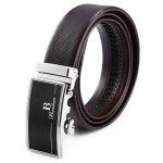 Wearable Automatic Alloy Buckle Trouser Belt for Men - BLACK