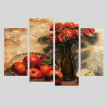 "4PCS Red <span class=""es_hl_color"">Apples</span> Printed Painting Canvas Print"