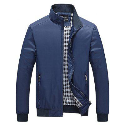 Buy DEEP BLUE Fashion Plus Size Jacket for $32.26 in GearBest store