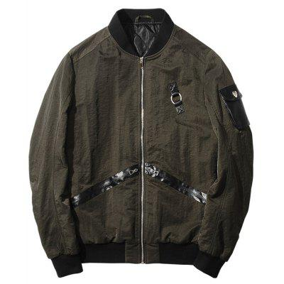 Buy ARMY GREEN Stylish Long Sleeve Stand Collar Jacket for $50.21 in GearBest store