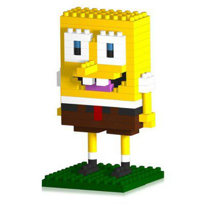 LOZ 140Pcs M - 9147 SpongeBob Figure Building Block Educational Toy for Brain Thinking