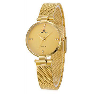 BELBI 5809 Simple Women Steel Band Quartz Watch
