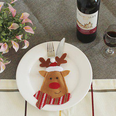 Buy BROWN Lovely Cartoon Elk Style Tableware Decoration in Christmas for $1.02 in GearBest store