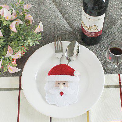 Buy WHITE Lovely Cartoon Santa Claus Style Tableware Decoration in Christmas for $1.02 in GearBest store