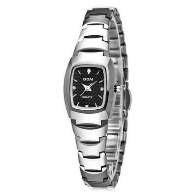 DOM 327 Attractive Steel Band Rectangular Dial Women Quartz WatchWomens Watches<br>DOM 327 Attractive Steel Band Rectangular Dial Women Quartz Watch<br><br>Band material: Steel<br>Band size: 19 x 1.1cm<br>Brand: DOM<br>Case material: Alloy<br>Clasp type: Sheet folding clasp<br>Dial size: 2.8 x 2.8 x 0.7cm<br>Display type: Analog<br>Movement type: Quartz watch<br>Package Contents: 1 x Watch, 1 x Box<br>Package size (L x W x H): 28.00 x 8.00 x 3.50 cm / 11.02 x 3.15 x 1.38 inches<br>Package weight: 0.1300 kg<br>Product size (L x W x H): 19.00 x 2.80 x 0.70 cm / 7.48 x 1.1 x 0.28 inches<br>Product weight: 0.0800 kg<br>Shape of the dial: Rectangle<br>Watch mirror: Acrylic<br>Watch style: Fashion<br>Watches categories: Women<br>Water resistance: Life water resistant