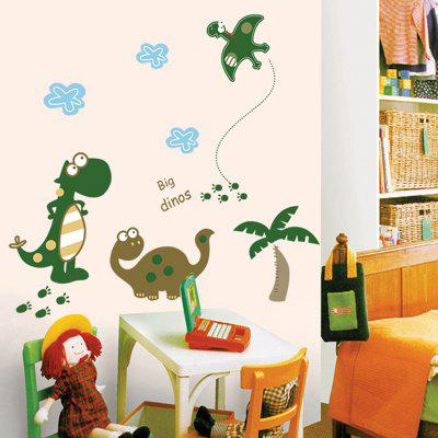 LAIMA Cartoon Dinosaur Design Removable StickerWall Stickers<br>LAIMA Cartoon Dinosaur Design Removable Sticker<br><br>Brand: LAIMA<br>Function: Decorative Wall Sticker<br>Material: Vinyl(PVC), Self-adhesive Plastic<br>Package Contents: 1 x Sticker<br>Package size (L x W x H): 50.00 x 4.00 x 4.00 cm / 19.69 x 1.57 x 1.57 inches<br>Package weight: 0.0800 kg<br>Product weight: 0.0300 kg<br>Quantity: 1<br>Subjects: Animal,Cartoon<br>Suitable Space: Bedroom,Living Room<br>Type: Plane Wall Sticker
