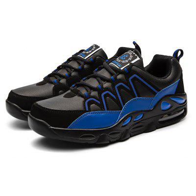 Buy BLACK + BLUE 39 Male Outdoor Air Cushion Soft Breathable Athletic Shoes for $34.38 in GearBest store