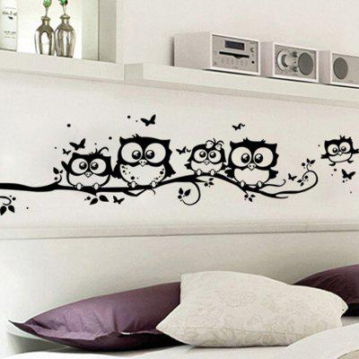 LAIMA Owl Design Removable StickerWall Stickers<br>LAIMA Owl Design Removable Sticker<br><br>Brand: LAIMA<br>Function: Decorative Wall Sticker<br>Material: Vinyl(PVC), Self-adhesive Plastic<br>Package Contents: 1 x Sticker<br>Package size (L x W x H): 25.00 x 4.00 x 4.00 cm / 9.84 x 1.57 x 1.57 inches<br>Package weight: 0.0600 kg<br>Product weight: 0.0400 kg<br>Quantity: 1<br>Subjects: Animal<br>Suitable Space: Bedroom,Kids Room,Living Room<br>Type: Plane Wall Sticker
