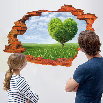 LAIMA 3D Love SHape Tree Design Wall StickerWall Stickers<br>LAIMA 3D Love SHape Tree Design Wall Sticker<br><br>Brand: LAIMA<br>Function: Decorative Wall Sticker<br>Material: Vinyl(PVC), Self-adhesive Plastic<br>Package Contents: 1 x Sticker<br>Package size (L x W x H): 60.00 x 4.00 x 4.00 cm / 23.62 x 1.57 x 1.57 inches<br>Package weight: 0.1800 kg<br>Product weight: 0.1600 kg<br>Quantity: 1<br>Subjects: Botanical<br>Suitable Space: Bedroom,Living Room<br>Type: Plane Wall Sticker