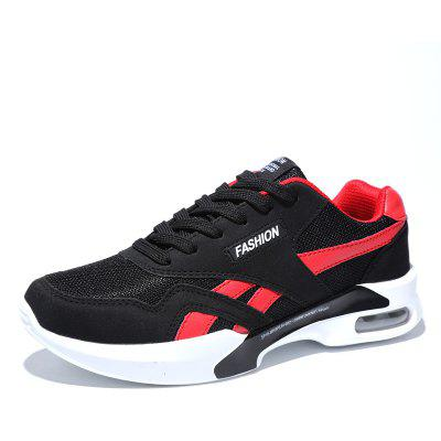 Buy BLACK RED 40 Breathable Mesh Air-cushion Athletic Shoes for Men for $31.54 in GearBest store