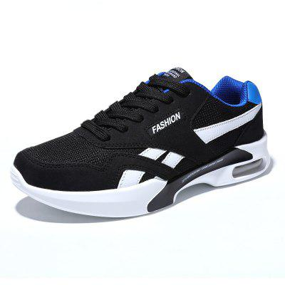 Buy BLACK + BLUE 42 Breathable Mesh Air-cushion Athletic Shoes for Men for $31.54 in GearBest store