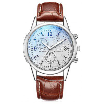 OTSEA S - 1065 Leather Band Men Quartz Watch
