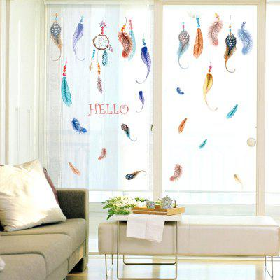 LAIMA Colorful Feathers Design Wall StickerWall Stickers<br>LAIMA Colorful Feathers Design Wall Sticker<br><br>Brand: LAIMA<br>Function: Decorative Wall Sticker<br>Material: Self-adhesive Plastic, Vinyl(PVC)<br>Package Contents: 1 x Sticker, 1 x Sticker<br>Package size (L x W x H): 50.00 x 4.00 x 4.00 cm / 19.69 x 1.57 x 1.57 inches, 50.00 x 4.00 x 4.00 cm / 19.69 x 1.57 x 1.57 inches<br>Package weight: 0.1200 kg, 0.1200 kg<br>Product weight: 0.1000 kg, 0.1000 kg<br>Quantity: 1<br>Subjects: Fashion<br>Suitable Space: Bedroom,Kids Room,Living Room<br>Type: Plane Wall Sticker
