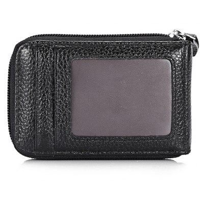Practical Leather Man Wallet with Zipper ClosureCoin Purses&amp;Holders<br>Practical Leather Man Wallet with Zipper Closure<br><br>Closure Type: Zip<br>Features: Wearable<br>For: Outdoor, Shopping<br>Gender: Unisex<br>Material: Leather<br>Package Size(L x W x H): 25.00 x 15.00 x 2.00 cm / 9.84 x 5.91 x 0.79 inches<br>Package weight: 0.1300 kg<br>Packing List: 1 x Male Wallet<br>Product Size(L x W x H): 12.00 x 7.00 x 1.50 cm / 4.72 x 2.76 x 0.59 inches<br>Product weight: 0.0500 kg<br>Style: Casual<br>Type: Wallet