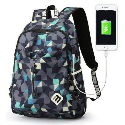 MARK RYDEN Men Leisure Laptop Backpack with USB Port