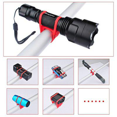 Silicone Strap Flashlight Tie Band for Bicycle HandlebarsBike Holder<br>Silicone Strap Flashlight Tie Band for Bicycle Handlebars<br><br>Installation location: Handlebar<br>Material: Silicone<br>Package Contents: 1 x Silicone Strap<br>Package Size(L x W x H): 16.60 x 3.10 x 1.40 cm / 6.54 x 1.22 x 0.55 inches<br>Package weight: 0.0190 kg<br>Product Size(L x W x H): 14.10 x 2.10 x 0.40 cm / 5.55 x 0.83 x 0.16 inches<br>Product weight: 0.0090 kg