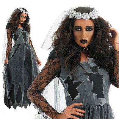 Decorative Halloween Costume Dress for CosplayHalloween Supplies<br>Decorative Halloween Costume Dress for Cosplay<br><br>For: Lover, Sisters<br>Package Contents: 1 x Dress, 1 x Mantilla, 1 x Choker<br>Package size (L x W x H): 35.00 x 32.00 x 3.00 cm / 13.78 x 12.6 x 1.18 inches<br>Package weight: 0.2050 kg<br>Product size (L x W x H): 90.00 x 150.00 x 2.00 cm / 35.43 x 59.06 x 0.79 inches<br>Product weight: 0.2000 kg<br>Usage: Party, Performance, Halloween, Stage