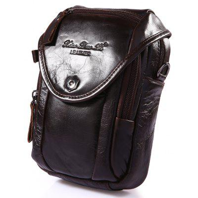 YUANFANVIP Male Multi-functional Genuine Leather Waist Bag / Handbag