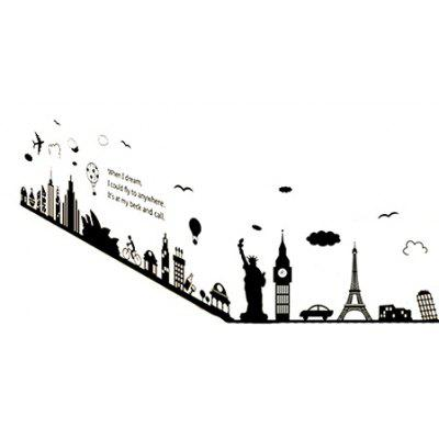 LAIMA QT0145 DIY European Style Building Wall Sticker