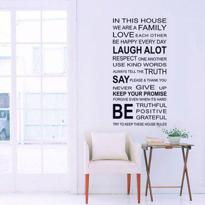 LAIMA QT0200 Removable Letter Combination Wall Sticker