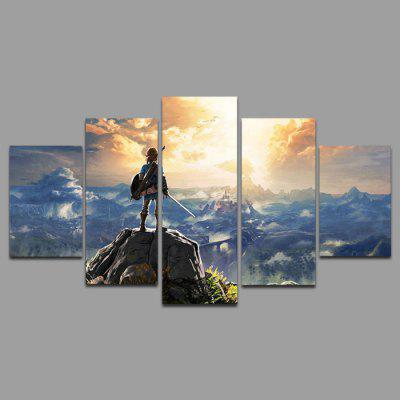5PCS YSDAFEN Overlook Printing Canvas Wall Decoration Print