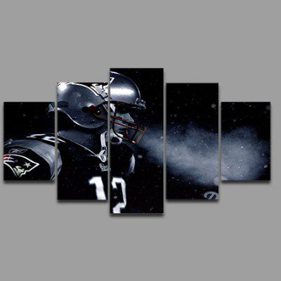 5PCS Spaceman Printing Canvas Wall Decoration Print