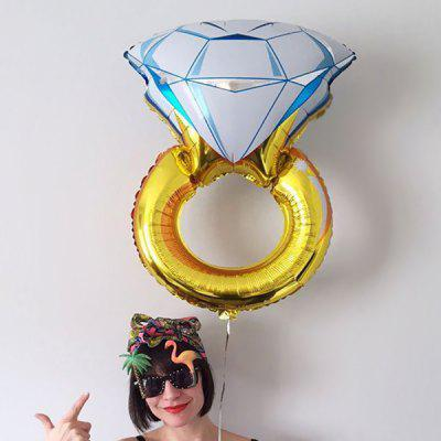 Large Size Diamond Shape Aluminum Film Balloon