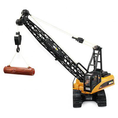 Buy DEEP YELLOW HUINA TOYS 1572 1:14 2.4GHz 15CH RC Alloy Crane Truck RTR for $57.57 in GearBest store
