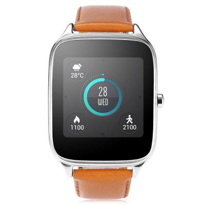 ASUS ZenWatch 2 ( WI501Q ) SmartwatchSmart Watches<br>ASUS ZenWatch 2 ( WI501Q ) Smartwatch<br><br>Alert type: Vibration<br>Band material: Leather<br>Band size: 25 x 2.0 cm<br>Battery  Capacity: 400mAh<br>Bluetooth calling: Callers name display,Phone call reminder<br>Bluetooth Version: Bluetooth 4.0<br>Brand: ASUS<br>Case material: Metal<br>Charging Time: About 3hours<br>Compatability: Android 4.4 or above<br>Compatible OS: Android<br>Dial size: 5.7 x 4.3 x 1.1 cm<br>Find phone: Yes<br>Groups of alarm: 3<br>Health tracker: Pedometer,Sleep monitor<br>IP rating: IP67<br>Messaging: Message checking,Message reminder,Message sending<br>Notification: Yes<br>Notification type: Facebook, Skype, WhatsApp, Wechat, Twitter, Instagram<br>Operating mode: Press button<br>Package Contents: 1 x Smartwatch, 1 x Power Adapter, 1 x USB Cable<br>Package size (L x W x H): 12.50 x 11.30 x 8.50 cm / 4.92 x 4.45 x 3.35 inches<br>Package weight: 0.3210 kg<br>People: Female table,Male table<br>Product size (L x W x H): 25.00 x 4.30 x 1.10 cm / 9.84 x 1.69 x 0.43 inches<br>Product weight: 0.0560 kg<br>RAM: 512MB<br>Remote control function: Remote music<br>ROM: 4GB<br>Screen resolution: 320 x 320<br>Screen size: 1.63 inch<br>Shape of the dial: Rectangle<br>Standby time: 3 - 5 days<br>Waterproof: Yes<br>Wearing diameter: 17 - 22.5 cm
