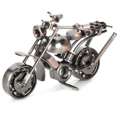 Retro Style Metal Motorbike Pattern Decoration Toy