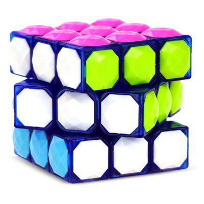 57mm Puzzle Magic Cube 3 x 3 x 3 ( Free Stickers )