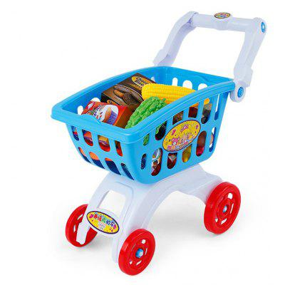 B103 - 05 Shopping Trolley Supermarket Plastic Pretend Play Toy Set for Early Education