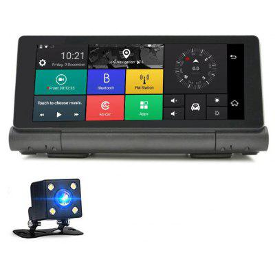 JUNSUN E28 6.86 inch Android 5.1 OS Bluetooth GPS Navigator with Rear View Camera Supports FM Radio Function