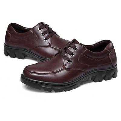 Male Breathable Soft Wearable Casual Leather Dress ShoesFormal Shoes<br>Male Breathable Soft Wearable Casual Leather Dress Shoes<br><br>Closure Type: Lace-Up<br>Contents: 1 x Pair of Shoes, 1 x Box<br>Function: Slip Resistant<br>Lining Material: Leather<br>Materials: Leather, Rubber<br>Occasion: Tea Party, Shopping, Party, Office, Holiday, Casual, Daily, Dress, Formal<br>Outsole Material: Rubber<br>Package Size ( L x W x H ): 33.00 x 22.00 x 16.00 cm / 12.99 x 8.66 x 6.3 inches<br>Pattern Type: Solid<br>Seasons: Autumn,Spring<br>Style: Modern, Leisure, Formal, Fashion, Comfortable, Casual, Business<br>Toe Shape: Round Toe<br>Type: Casual Leather Shoes<br>Upper Material: Leather