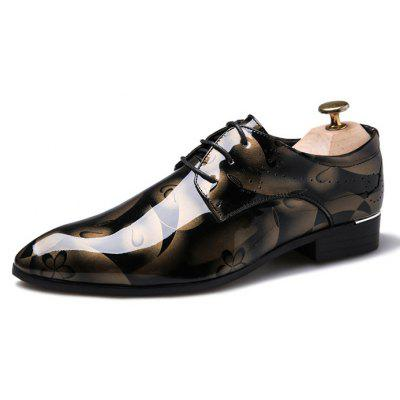 Male Stylish Large Size Printed Casual Dress Shoes